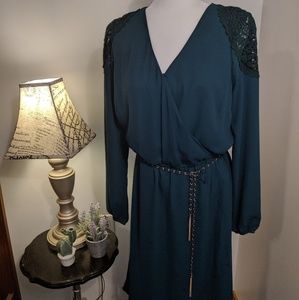 Thalia Sodi Green Belted Dress NWOT